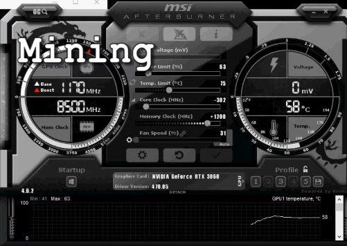 RTX 3060 12 гб майнинг Ethereum. Как повысить хешрейт?