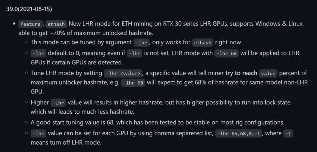 NBMiner частично взломал защиту от майнинга у Nvidia LHR.